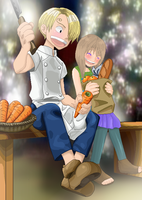 .:Little Sanji and Umiko:. by alexpc901