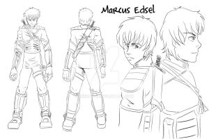 Steel Blood - Characters - Marcus Edsel by Reenave
