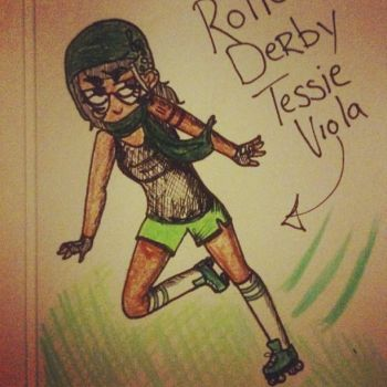 Roller Derby Tessie Viola by Rave-Light