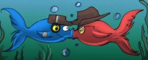 TF2: Sniper and scout fishies by DarkLitria