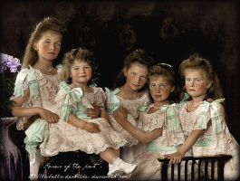 Last Romanov children in 1906 by La-Bella-Devotchka