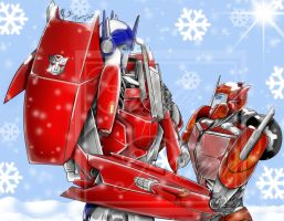 Snow Fall (Optimus an Causeway) by Lady-ElitaOne-Arts