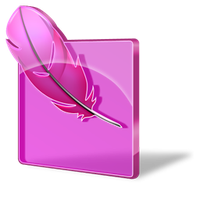 photoshop pink glass icon by maryduran