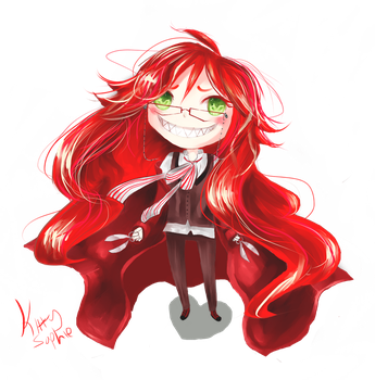 +Chibi grell+ by kittysophie
