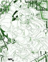 Pencils-Jessie of FF7 by herms85