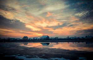 Sunset in winter by florina23