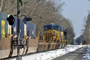 Northbound Trailer Train thru Ashland Va by jhg162