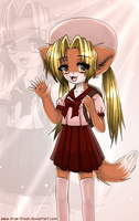 .coco-bozu the fox girl. by draw-freak