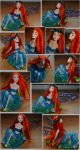OOAK Redhead Fairy Collage by Forestina-Fotos