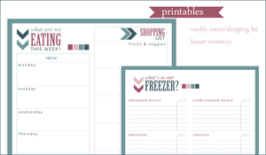 Menu and Inventory Printables by maytel