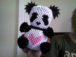 Yet another 3D origami panda by OneLoneTree