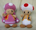 Toad and Toadette by W0IfDreamer