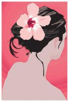 Pink Hibiscus Girl by houseofjealouslovers