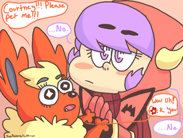 flareon where are your manners by Raikou-K-9