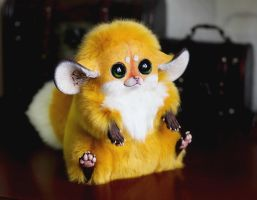 Inari Foxes: Gold by Santani