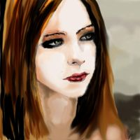 Avril Lavigne Portrait in Adobe Photoshop! by neeshma