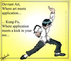 Kung-Fu Drawing by PulaBoiPulaCavalo