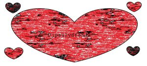 random black and red heart by djpaulydfan1