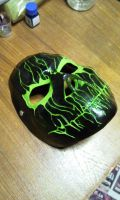 Cast Mask Black/Green 2 by foxdog77