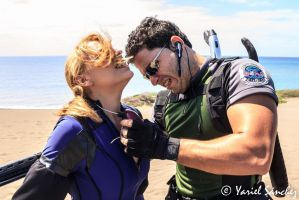 Chris Redfield And Jill Valentine Resident Evil 5 by CristEsp