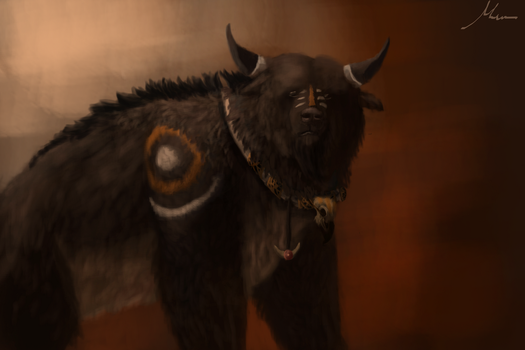 Tauren Bear Form by SheepyArt