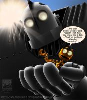 B.E.N. and the Iron Giant by Raingrass