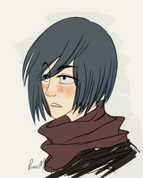 It's just one of those days, right Mikasa? by MilkyPrinc3