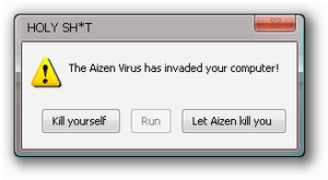 Aizen-Virus error message by Hollowninetales696