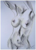 Pastel nude sketch III by red-lights