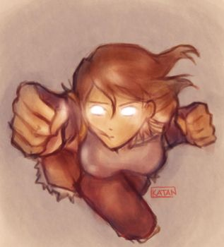 Day 30 - Going out with a bang with Korra by Katantoon