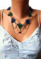 Chainmail Bridal Necklace / Circlet by SerenityinChains