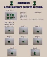 Lego Minecraft Creeper Tutorial by violinsane