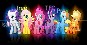 MLP Cast Picture 2 by isaiahcow1