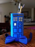TARDIS Pencil Holder by Chrisily