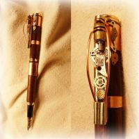 Steampunk Pen by Roskvape