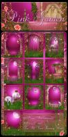 Pink Garden backgrounds by moonchild-ljilja