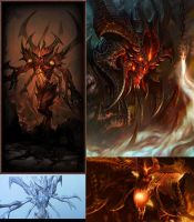 Diablo 3 Lord of Terror Collage by Abyss1