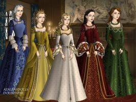 Sailor Moon Princesses Tudor Style by TFfan234