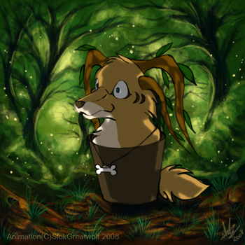 Bouncing in the forest by SlokGreatwolf