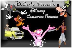 Disney Charcters Brushes By Dj by djobaid