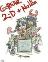 2D and Noodle by Amaya92