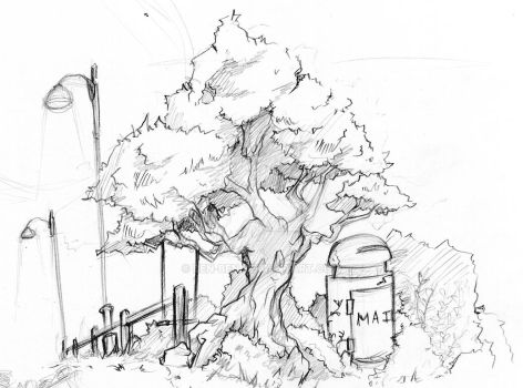 Bg sketch - tree 1 by ben-ben