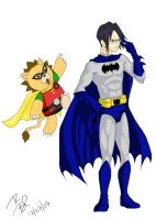 Ishida n Kon as Batman n Robin by ryuomaru