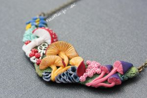 Mushroom Necklace - Alice in Wonderland Inspired by PetitPlat