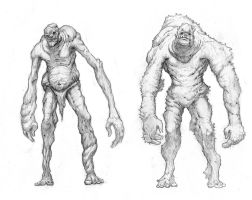 Giants Sketches by NickDeSpain