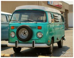 A Green VW Van by TheMan268