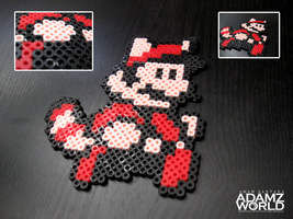 Mario - Raccoon Suit - Perler Beads by Adamzworld