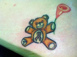 Teddy Bear Tattoo After Pic by NarcissusTattoos