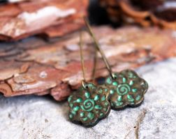 Metal flowers. Faux metal clay by earthexpressions