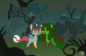 the wood pony meet chaos pony by BlackCherry1994